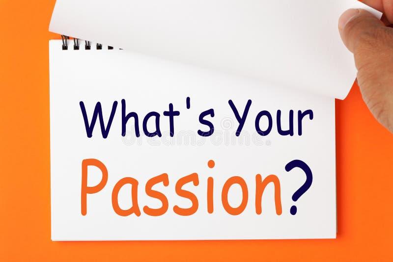 Vad är din passion arkivbild