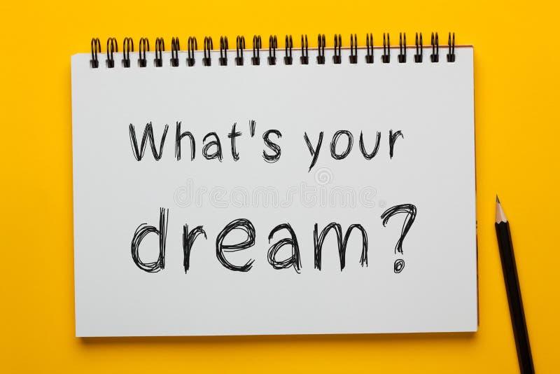 Vad är ditt dröm- begrepp royaltyfria bilder