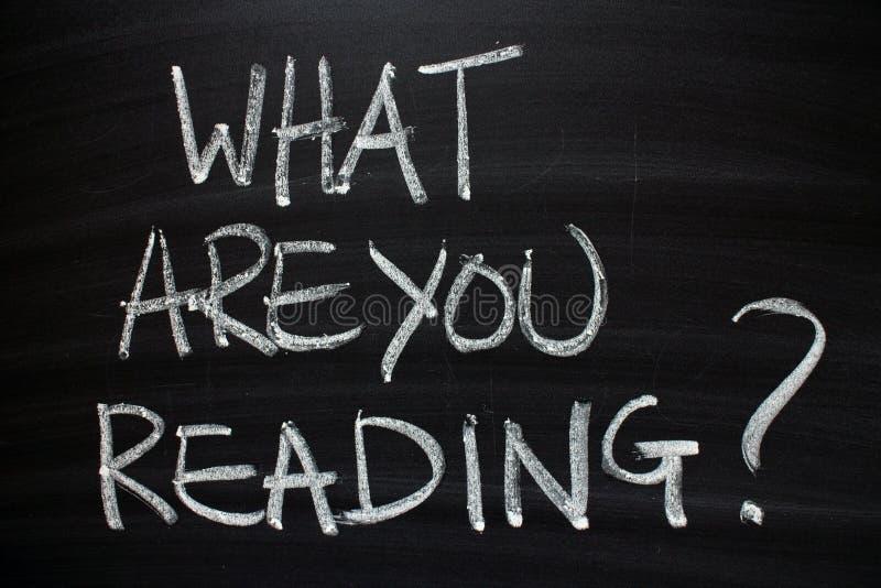 Vad är du som läser? fotografering för bildbyråer