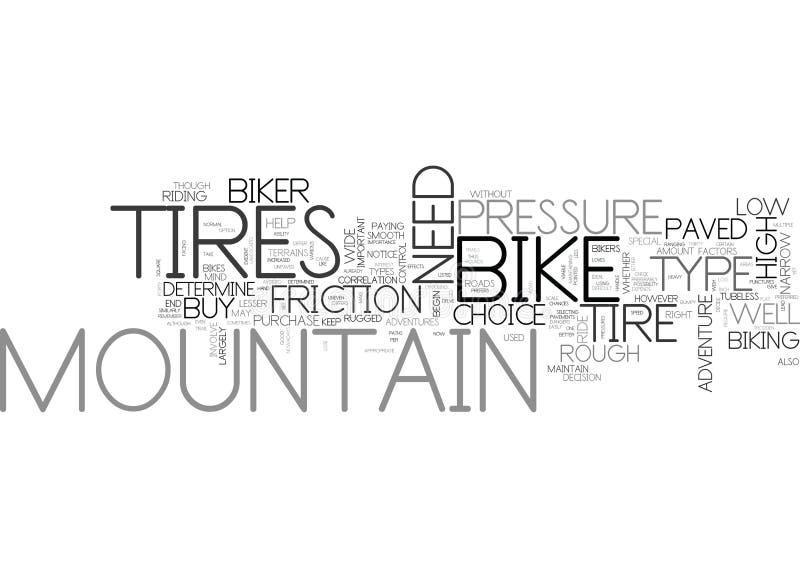 Vad är faktorerna som bestämmer ditt moln för mountainbikegummihjulordet vektor illustrationer