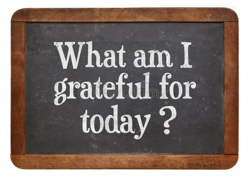 Vad är jag tacksam för i dag? arkivbild