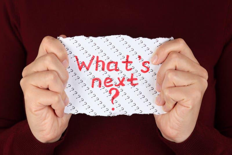 Vad är nästa? royaltyfria foton