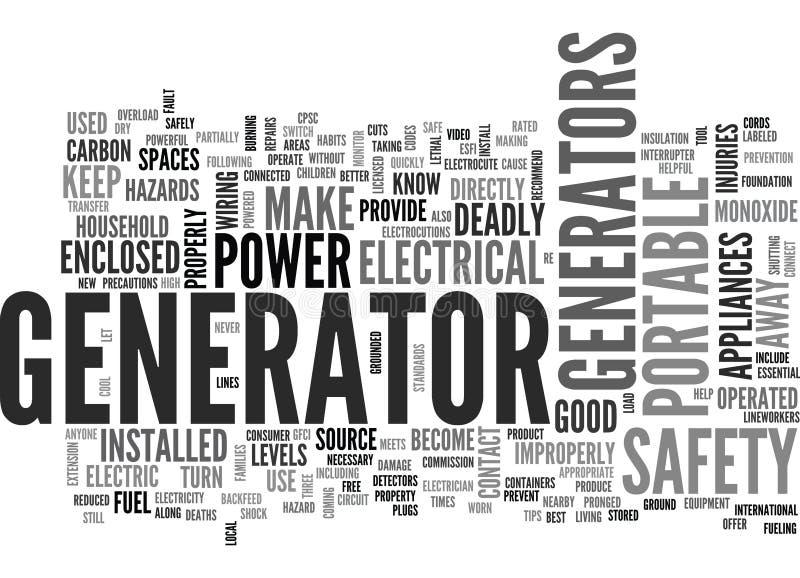 Vad du bör veta om det bärbara molnet för generatorsäkerhetsordet royaltyfri illustrationer