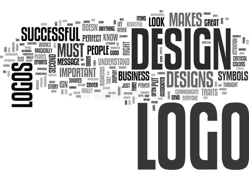 Vad gör en Logo Successful Word Cloud royaltyfri illustrationer