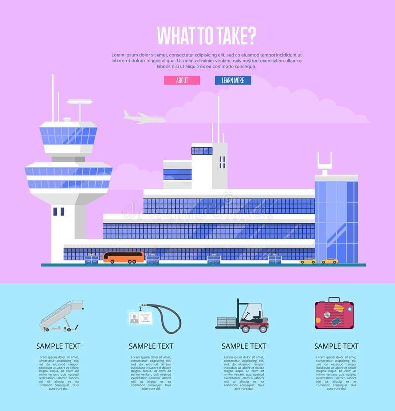 Vad som tar begreppet för kommersiellt flygbolag vektor illustrationer
