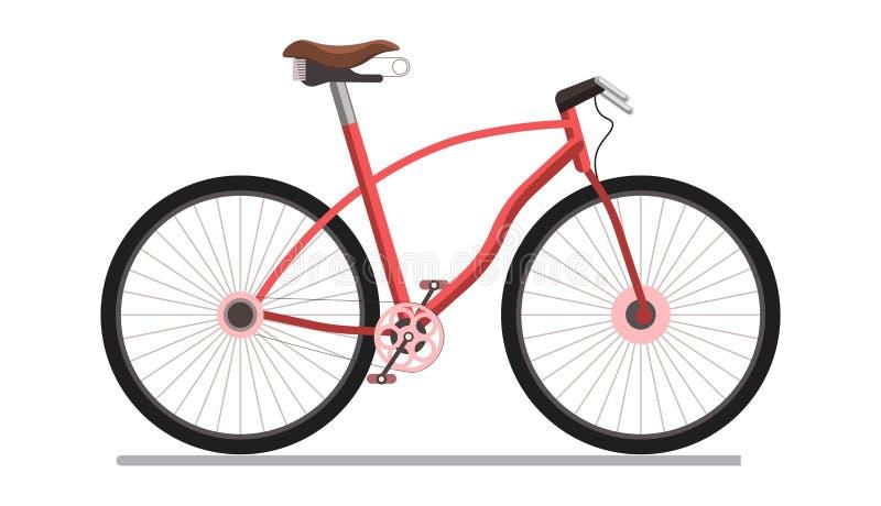 Vada in bicicletta il pedale urbano o l'icona piana di vettore del veicolo di sport illustrazione di stock