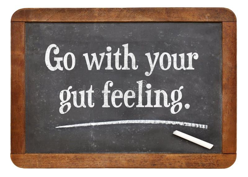 Vada con la vostra sensibilità di intestino immagini stock