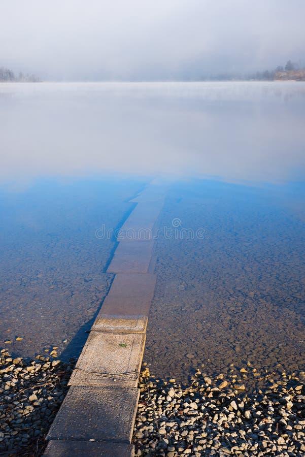 Vada i vattnet arkivfoto