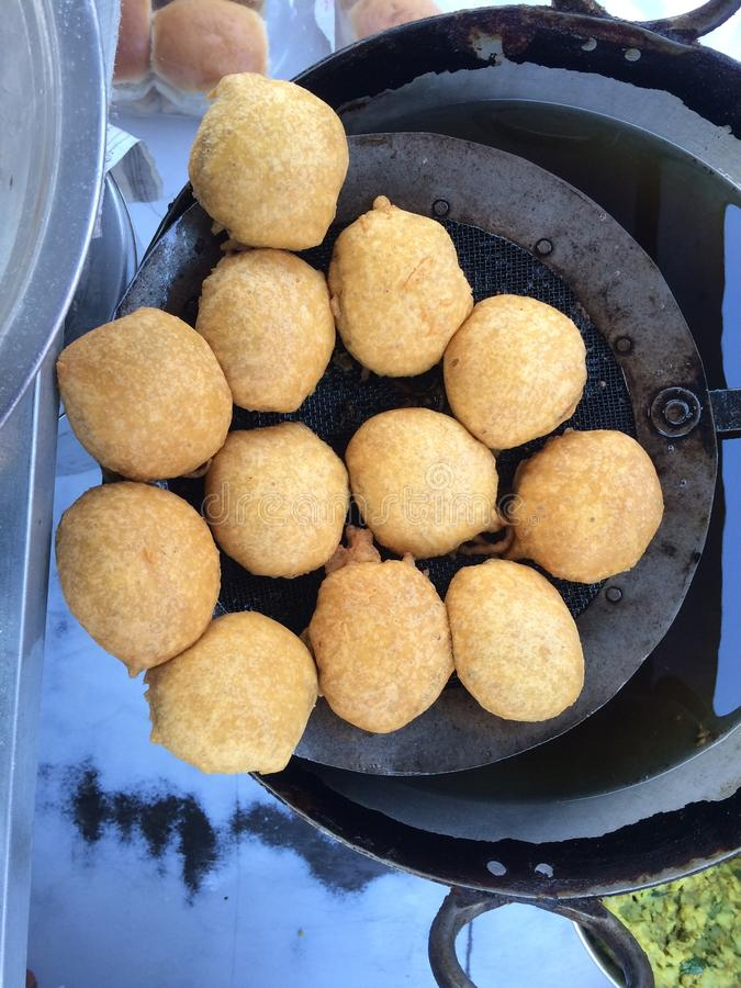 Vada Pav. Indian special traditional fried food vada pav royalty free stock photo