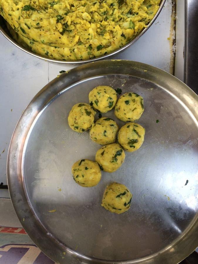 Vada Pav. Indian special traditional fried food vada pav stock photo