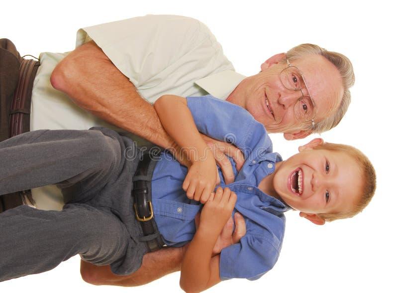 Vader & Zoon Veertien stock foto