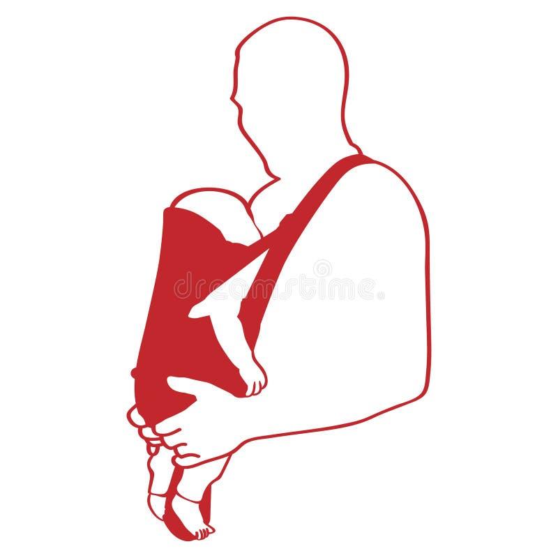Vader die een babyillustratie dragen door crafteroks vector illustratie