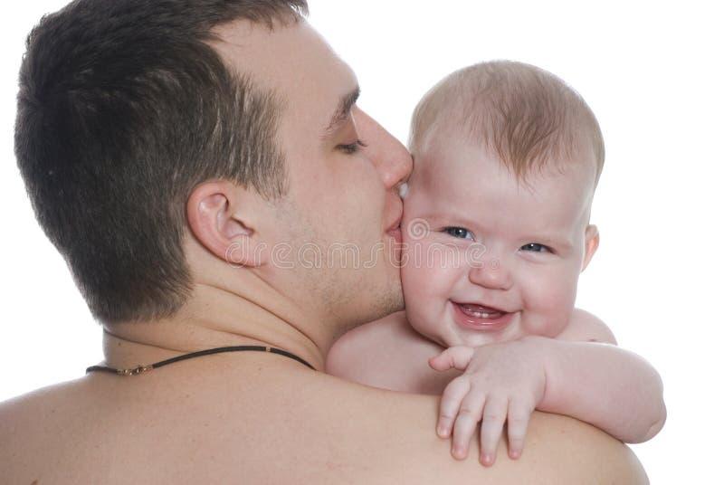 Vader en baby stock afbeelding