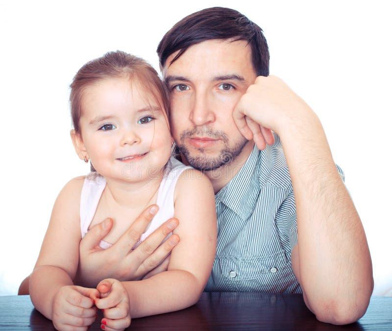 Vader en dauther royalty-vrije stock afbeeldingen