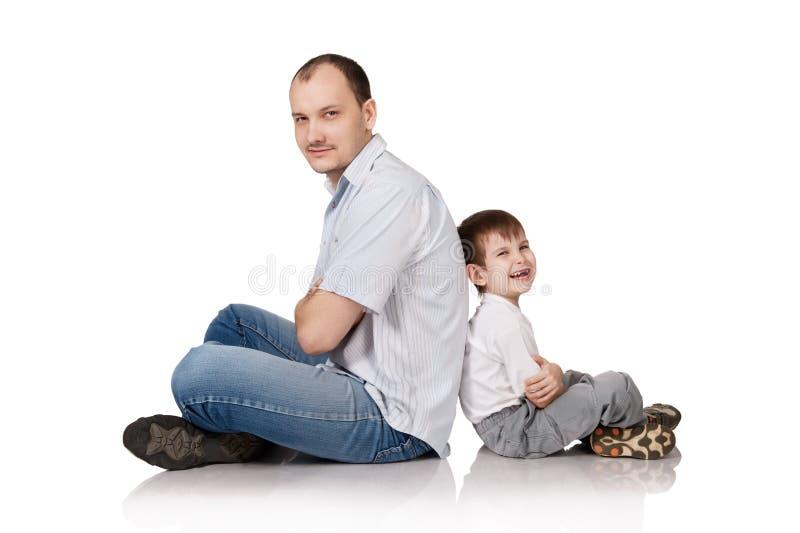 Vader en de zoon stock afbeeldingen