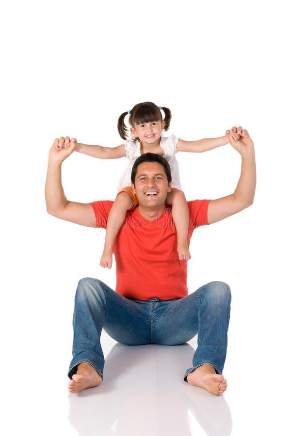 Vader en dochter stock foto