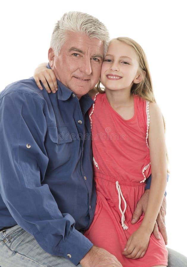 Vader en dochter stock afbeelding