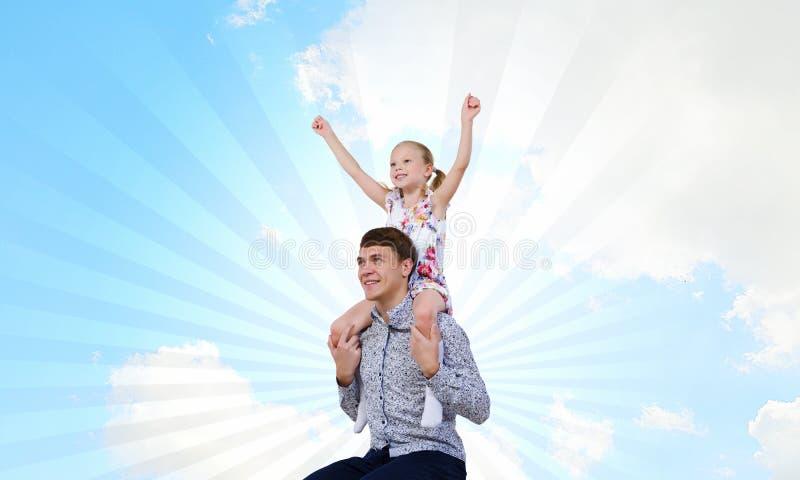 Vader en dochter royalty-vrije stock fotografie