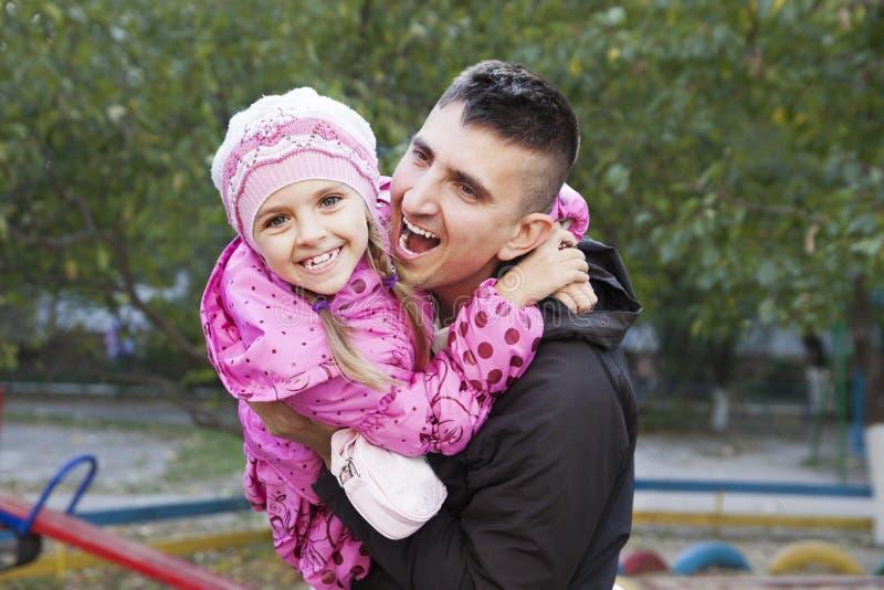 Vader en dochter royalty-vrije stock afbeelding