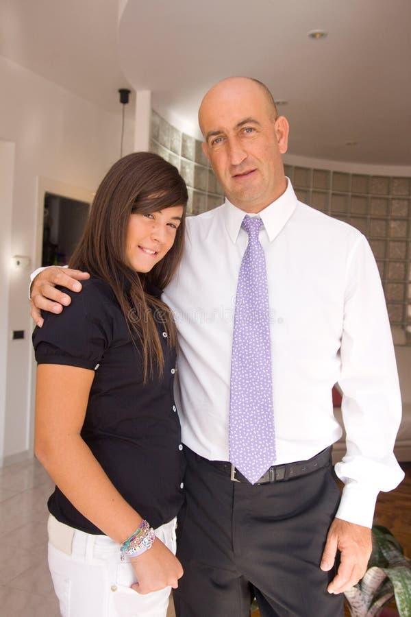 Vader en dochters stock afbeelding