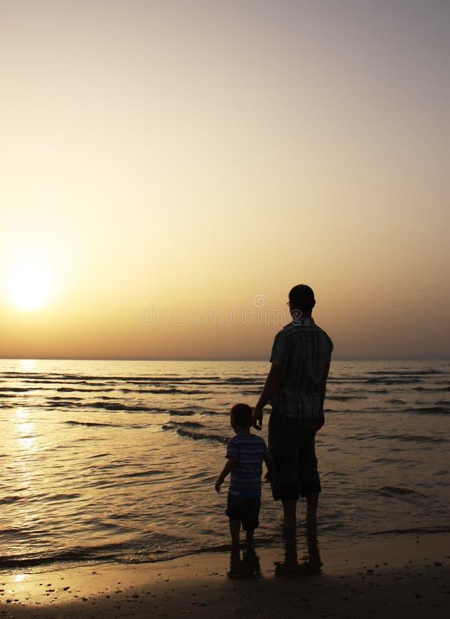 Vader en zijn kind stock foto