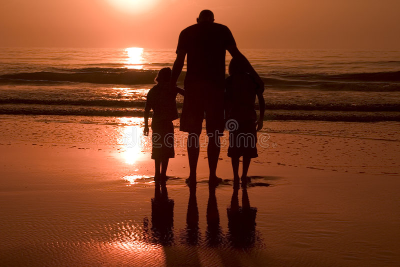 Vader en zonen royalty-vrije stock afbeeldingen