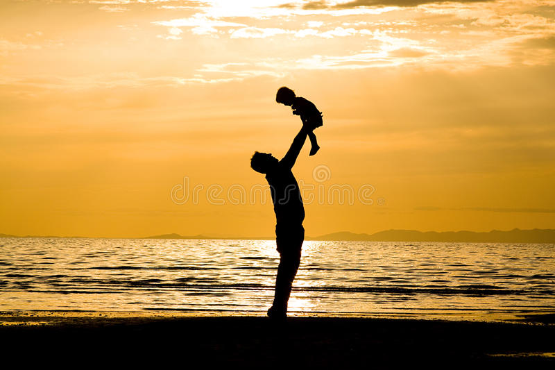 Vader en Zoon royalty-vrije stock afbeelding