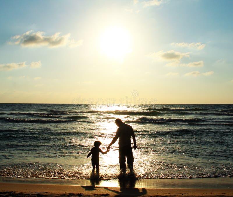 Vader en zoon stock foto's