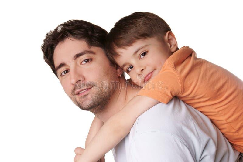 Vader en zoon royalty-vrije stock foto