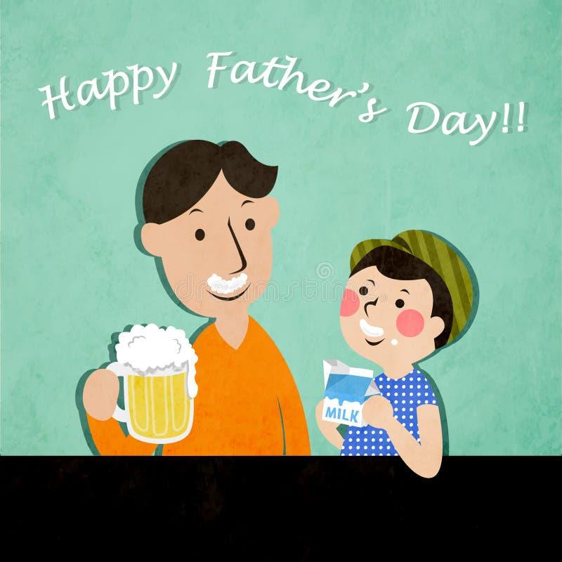 Vader en zoon stock illustratie