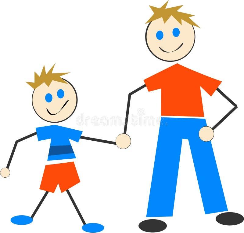 Vader en Zoon vector illustratie