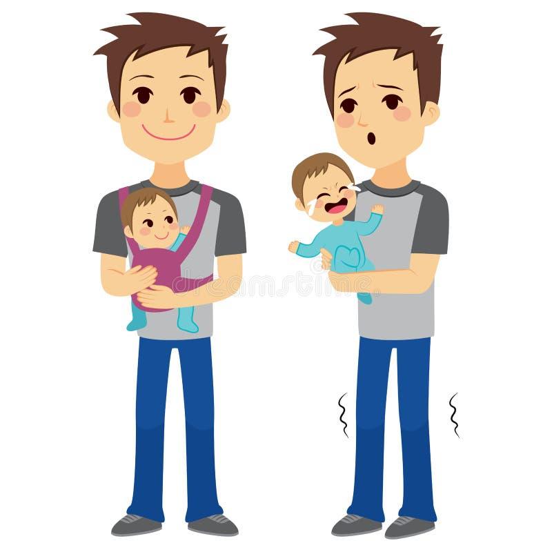 Vader Holding Baby royalty-vrije illustratie