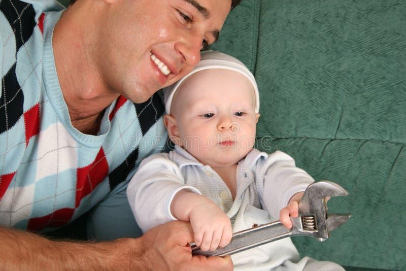 Vader met baby royalty-vrije stock fotografie