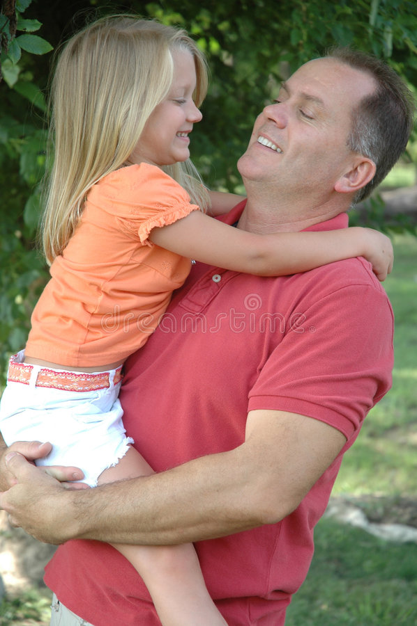Vader met dochter royalty-vrije stock afbeeldingen