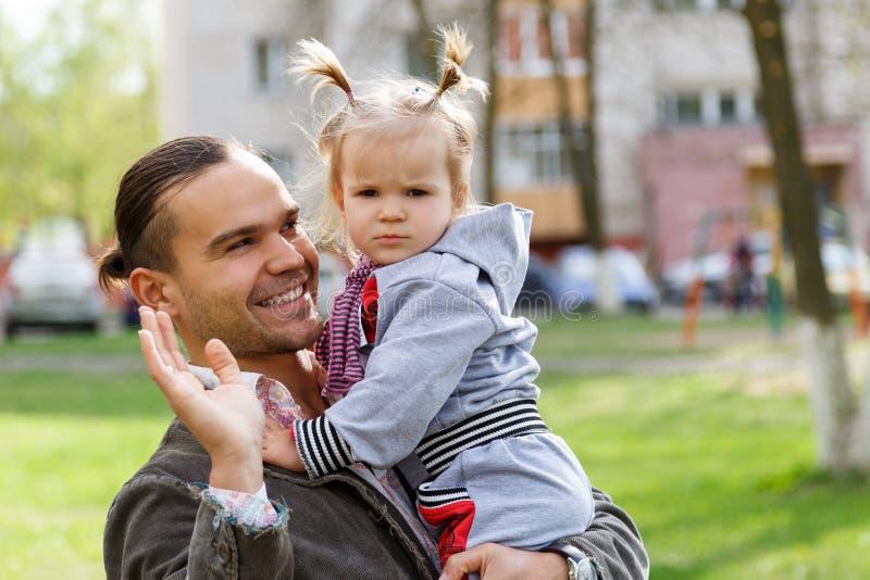 Vader met dochter royalty-vrije stock afbeelding