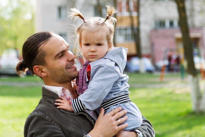 Vader met dochter royalty-vrije stock foto's