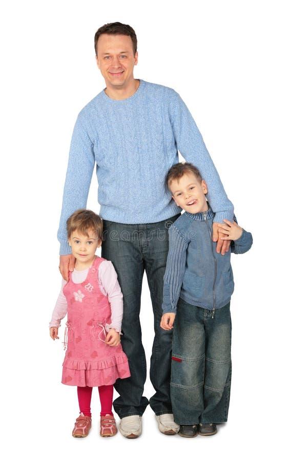 Vader met kinderen stock afbeeldingen