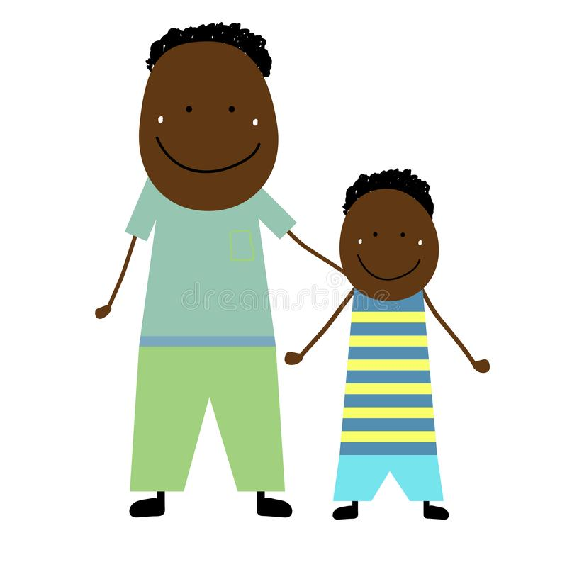 Vader met zoon stock illustratie