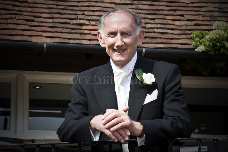 Vader van de bruid royalty-vrije stock foto