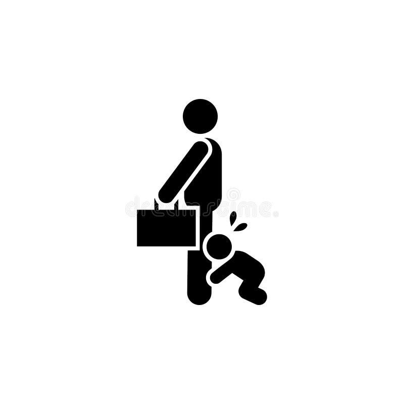 Vader, zakenman, het schreeuwen, babypictogram Element van ouderpictogram Grafisch het ontwerppictogram van de premiekwaliteit te royalty-vrije illustratie