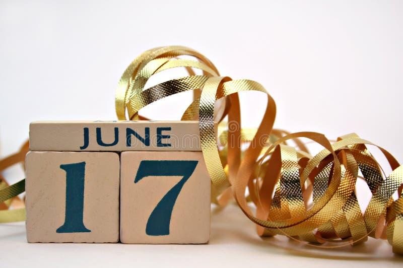 Vaderdag, 17 Juni stock foto's