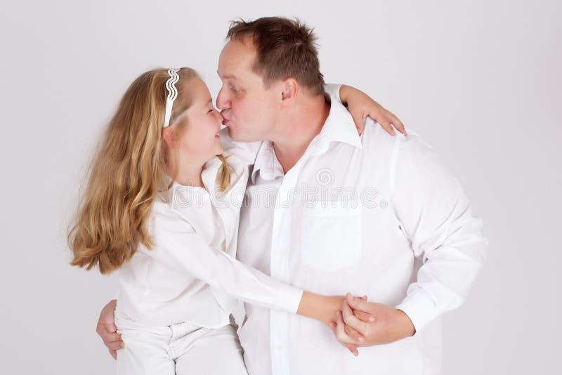 Vaderlijke liefde stock afbeeldingen