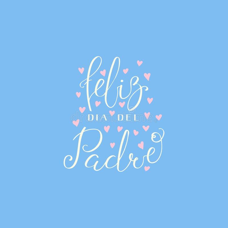 Vadersdag het van letters voorzien citaat in het Spaans royalty-vrije illustratie