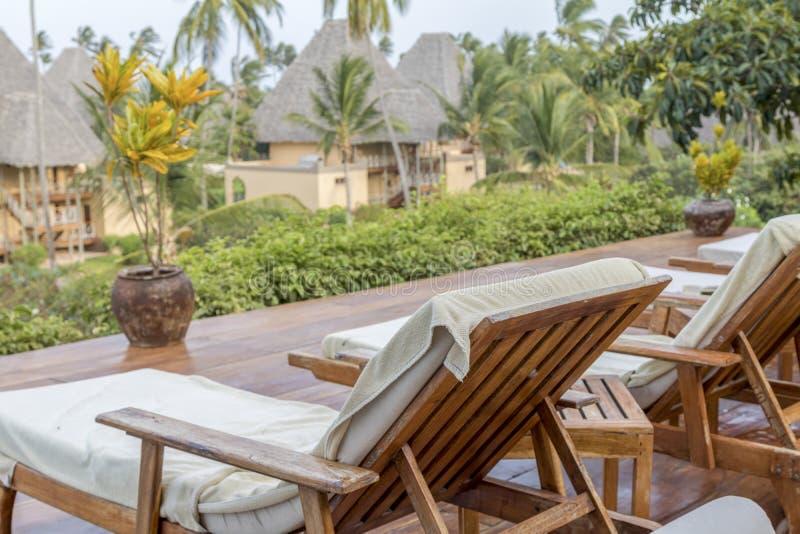 Vadio de Sun em Zanzibar foto de stock