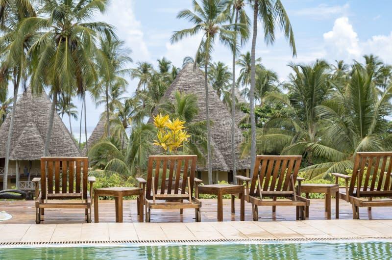 Vadio de Sun em Zanzibar fotografia de stock