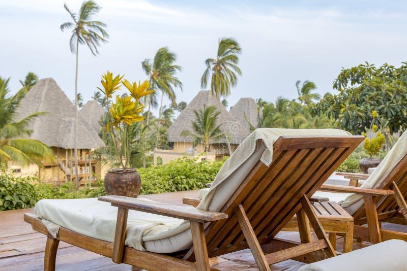 Vadio de Sun em Zanzibar imagens de stock royalty free
