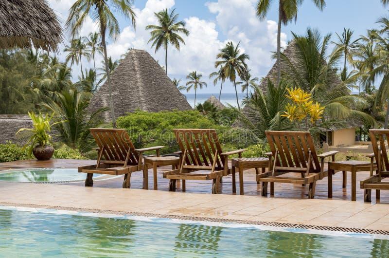 Vadio de Sun em Zanzibar fotos de stock