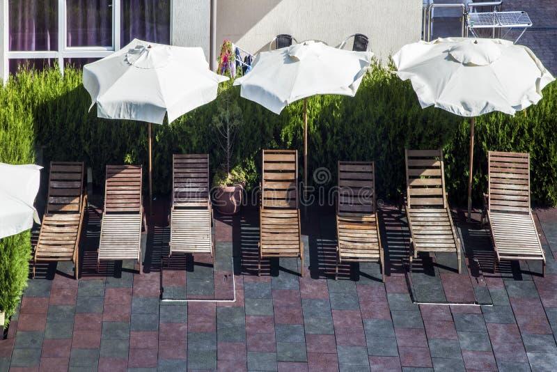 Vadios de madeira do sol fotos de stock