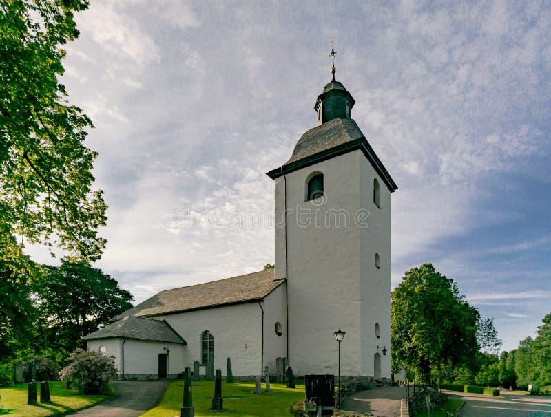 Sweden church Kola Kyrka stock photos