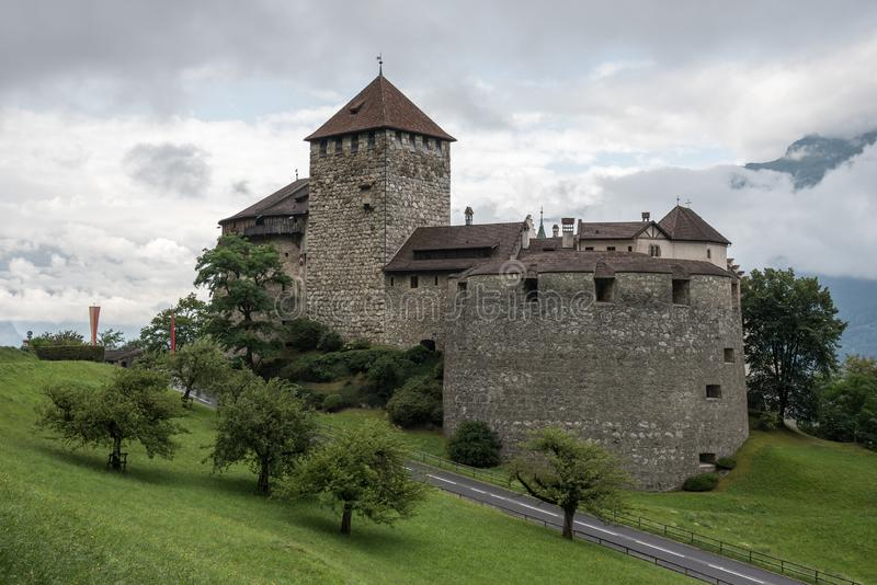 Vaduz Castle, Mountains, Liechtenstein, Europe royalty free stock photos